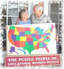the Puzzle People owners, Michael and Pat Smith