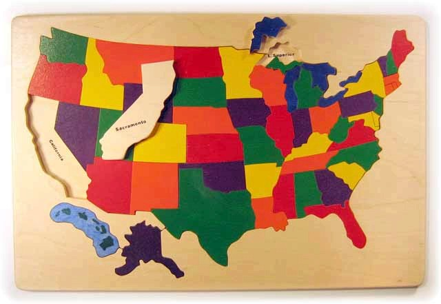 Wooden map puzzles - USA, Africa, Europe, Mexico, South ...