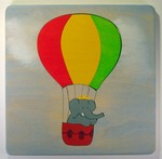 Hot air balloon puzzle for toddlers