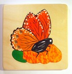 hand-painted Monarch Butterfly puzzle