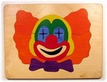 wooden puzzle of Clown