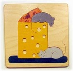 Cheese and Mice toddler puzzle